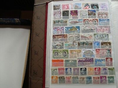 MONACO - 55 stamps canceled (all state) stamp