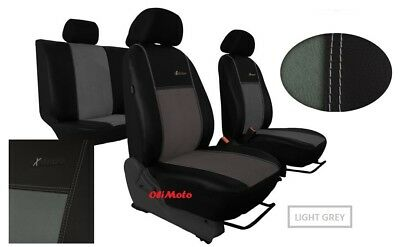 Alcantara Tailored Full Set Seat Covers Nissan Qashqai 2013 - onward
