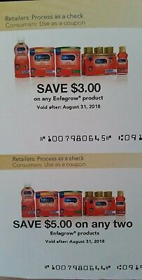 $8 off ENFAGROW PRODUCT 2 Coupons expire August  31, 2018