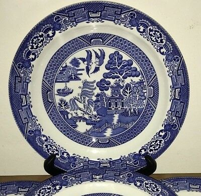 Woods Ware Blue Willow Dinner Plate 25cms Wood & Sons - Made in England