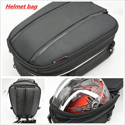1Pcs Black motorcycle tail Helmet bag luggage backseat Box waterproof cover BAG