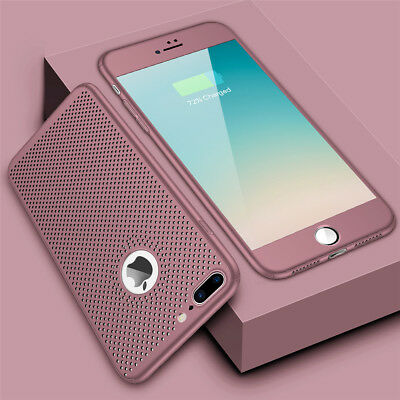 New ShockProof 360 Hybrid Hard Case Tempered Glass Cover For iPhone 7 Plus X 8 6