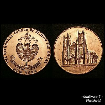 The Cathedral Church of St. John The Divine New York Pilgrimage Souvenir Medal