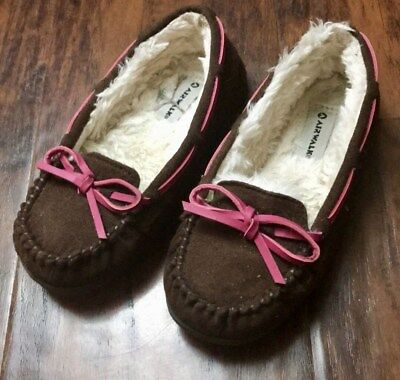 29d1146452049 AIRWALK YOUTH GIRLS Faux Fur Lined Brown Moccasins Shoes Size 11.5 ...