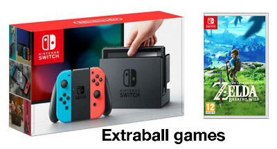 Nintendo switch red and blau Freude-mit + the Legend of Zelda breath of the Wild