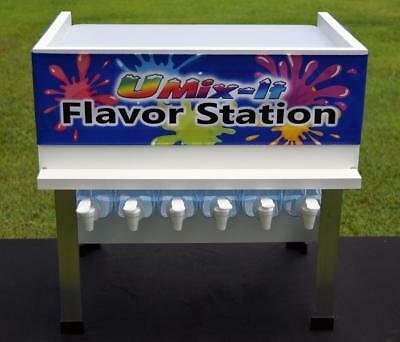 Flavor Station Snow Cone Shaved Ice Flavors Equipment