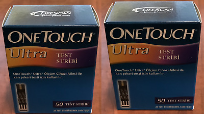 One Touch Ultra Blood Glucose Diabetic Test Strips 100/ct Exp: 2020-09