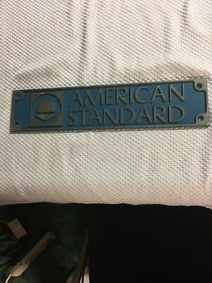 American Standard Stainless Steel Placard Sign Collector Man CaveEC