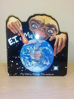 E.T. and Me Picture Story Album Adventure Frame Book Universal Studios ET 1994