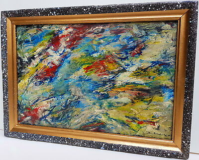 ZAO WOU-KI 趙無極 signed oil painting   Zhao Wuji Chinese French abstract Zhào Wújí