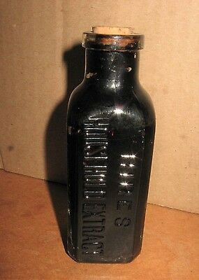 Vintage Early to Mid 1900s HIRES ROOT BEER Household Extract Cork Top BOTTLE