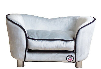 """""""Millies"""" Ultimate luxury Silver Dog Bed / Sofa,luxury comfort for your pet"""