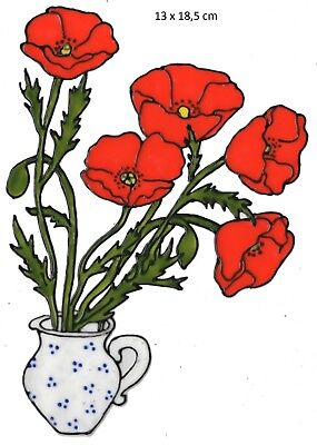 Window Color Fensterbild Blumensticker +++Mohnblume+++