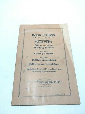 Vintage Smith's Welding and Cutting Torches Instruction Manual