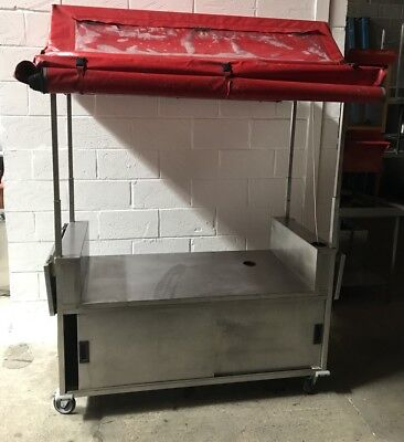 Mobile Food Cart/display Unit With Canopy*street Food*1645 Mm Wide*