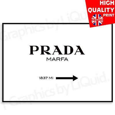 PRADA MARFA Poster PRINT PHOTO PICTURE FASHION DESIGNER GIFT A4 A3 A2 A1