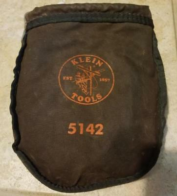 Vintage Klein 5142 Tool Pouch/bag Canvass Pole Climbing W/straps Nice Condition