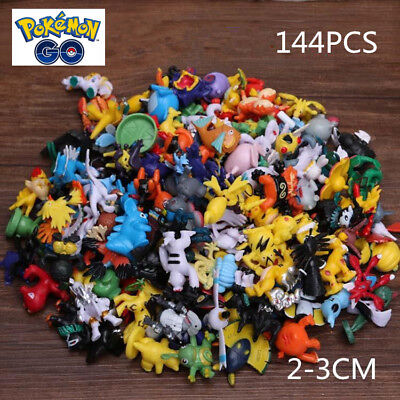 144pcs Pokemon GO Monster cute Mini Action Figures pikachu gift Loose toy gife