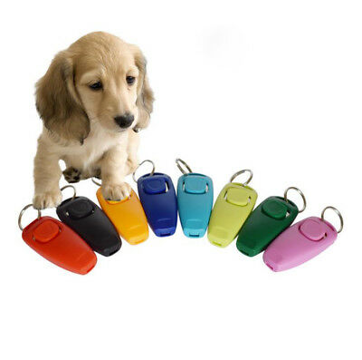 Pet Dog Puppy Button Click Clicker Training Trainer Aid Wrist Strap Guide Tool C