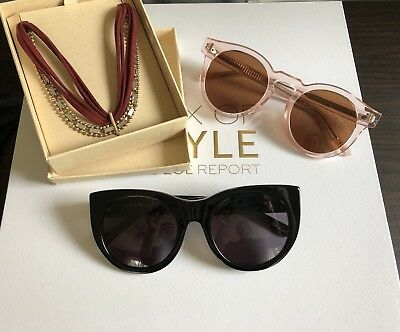 Rachel Zoe Box Of Style Durante sunglasses,Bonnie Clyde sunglasses & headwrap