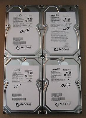 "Lot of 4 Seagate SATA 3.5"" 750GB Internal Desktop Hard Drive"
