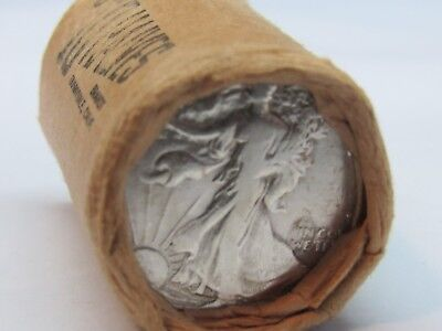 1 ROLL Unsearched (20) Silver Walking Liberty Half Dollar $10.00 1942/44 #WR242