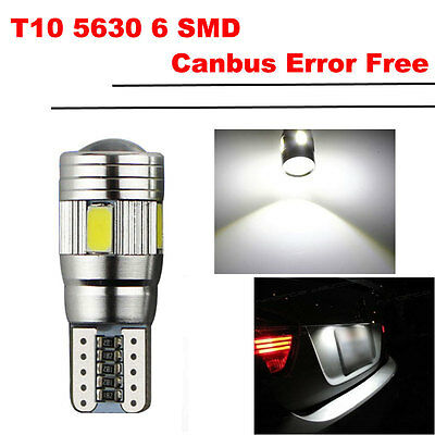 10X 6 SMD 5630 CREE LED Xenon 192 Canbus T10 Standlicht Weiß Beleuchtung