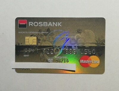 Mastercard credit card Rosbank (SG) from Russia  collectable only