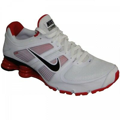 newest 5981a 4c766 Mens Nike Shox Turbo + 11 Premium Sneakers New, White   Red 407266-106