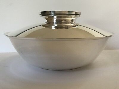 Gorham Mid-Century Modern Covered Serving Bowl Dish Silverplate