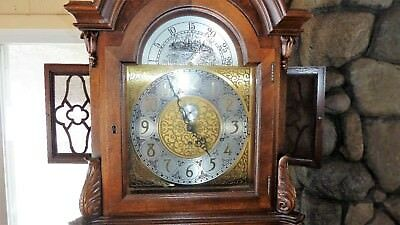 Colonial Mfg. Co. Tall Case 9 Tube Grandfather Clock Excellent Condition