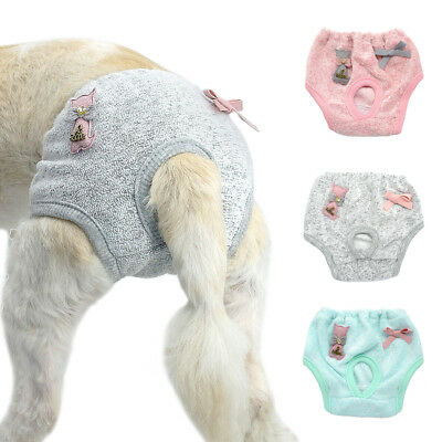Female Pet Dog Puppy Diaper Physiological Pants Sanitary Shorts Underwear S-L