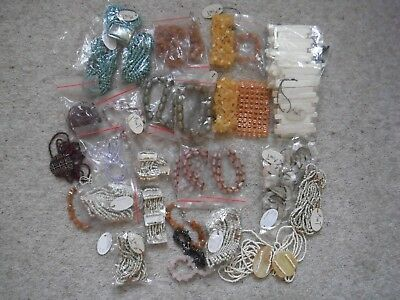 Job lot jewellery 50 Bracelets suitable for car boot sale new some with tags