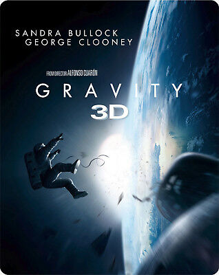 Gravity 3D - Limited Edition Steelbook [Blu-ray 3D + Blu-ray] New and Sealed!!