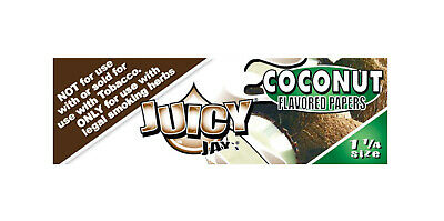 Juicy Jays Coconut 1 1/4 Rolling Papers Hemp Wrap FRESH 1 Pack RAW Elements