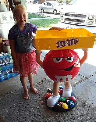 M & M character store display red with tray excellent condition