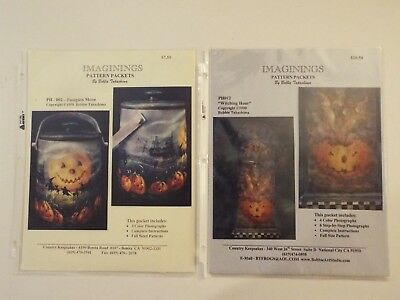 2 new bobbie takashima halloween painting patterns witching hour