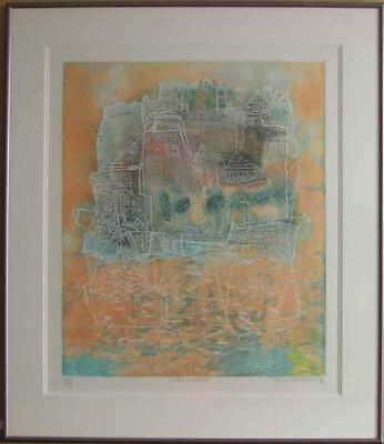 Soiree Insulaire (Framed Lithograph Numbered & Signed) 53/99 - Fine Art Poster