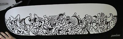 Abstract Art Skateboard Drawing ORIGINAL