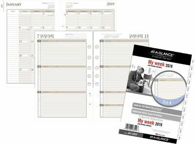At-A-Glance Day Runner Weekly Planner Refill Size 4 - Weekly Planner Refills