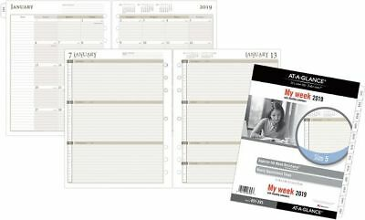 At-A-Glance Day Runner Weekly Calendar Planner Refill Size 5 - Weekly Planner