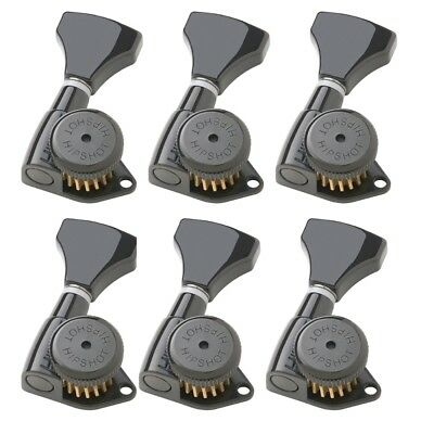 Hipshot Grip-Lock 6 inline 21mm Locking Tuners Universal Mounting Plate UMP included Chrome