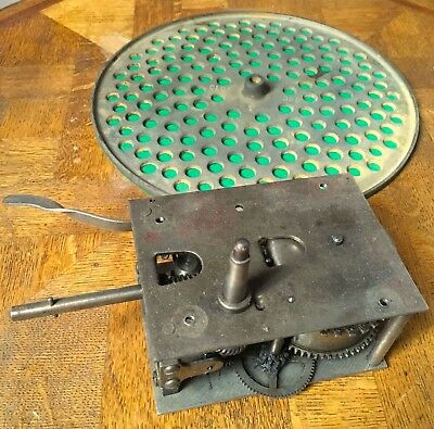 """Double Spring Wind Up Gramophone Motor & 12"""" Turntable, """"Reno"""" Swiss Made"""