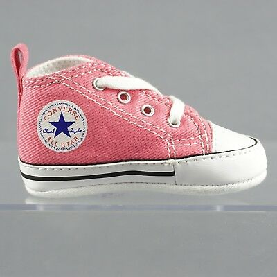 688f0fe4b3b6 Converse Little Kid Baby Size 1 First Star High Top Pink Crib Shoes - 88871