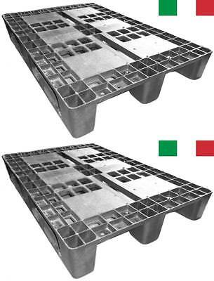 Cenni 12002 Set 2 bancali Pallet Plastic 1200 x 800 with 3 Traverse, Made in...