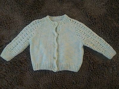 Handmade*Vintage Cardi Sweater*Toddler Baby Girl 12m*EVC