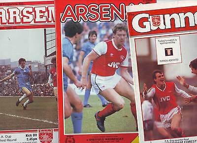 ARSENAL V BOLTON, SHEFFIELD WEDNESDAY & NOTTINGHAM FOREST 1980's  VGC