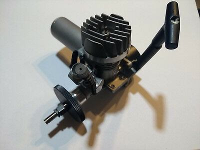 Thunder Tiger GP15 nitro engine with exhaust, clutch flywheel and pull starter