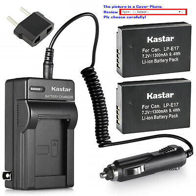 Kastar Battery AC Rapid Charger for Canon LP-E17 LC-E17 & Canon Rebel T7i Camera