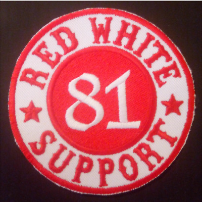 Support Patch RED WHITE 81 SUPPORT Original Hells Angels Support Aufnäher RAW